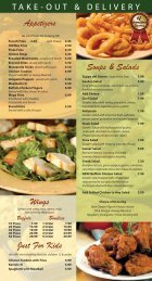 Appetizers Wings Soups & Salads Just For Kids - Nino's Pizza