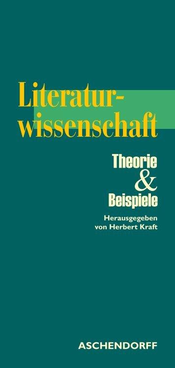 Literaturwissenschaft. Theorie und Beispiele - Aschendorff