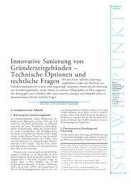 Innovative Sanierung von Gründerzeitgebäuden ... - e-sieben.at