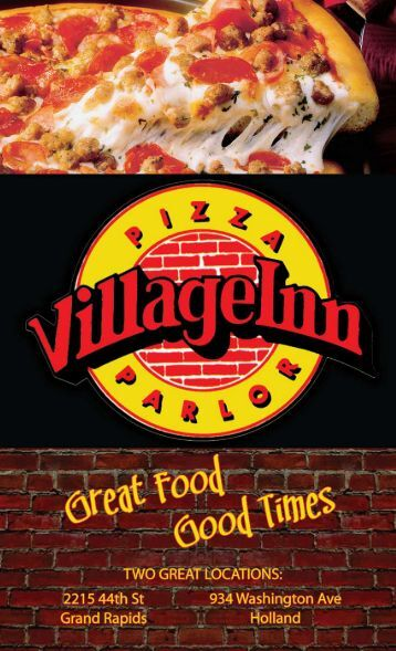 View/Save Menu as PDF - Village Inn Pizza
