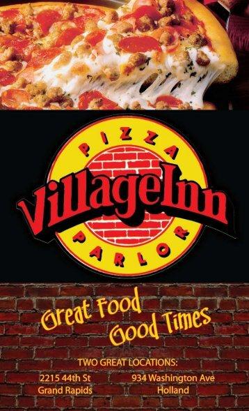 View/Save Menu as PDF - Village Inn Pizza