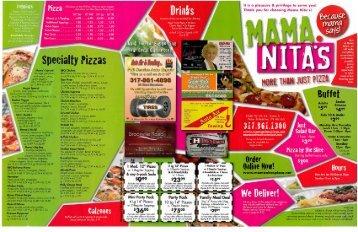 Menu - Mama Nita's Pizza