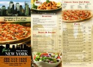 Download our take-out menu - Joe's New York Pizza and Pasta