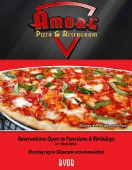 to download our Take-Out menu - Amore Pizza and Restaurant West ...