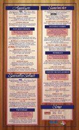 Menu - Bill's Pizza & Smokehouse