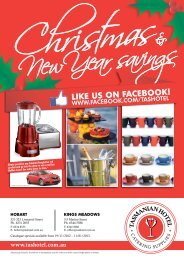Xmas catalogue out now - Tasmanian Hotel Catering Supplies