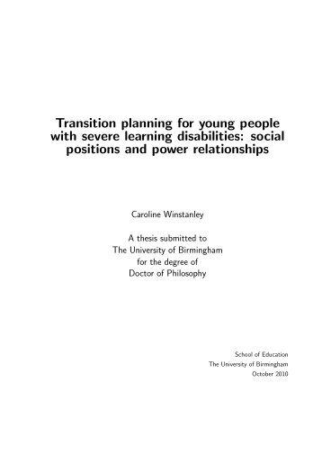 Caroline Winstanley - eTheses Repository - University of Birmingham