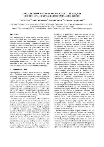 Flessa, Th. ; Paraskevas, I. ; Papadopoulos, E. - ESA - Robotics