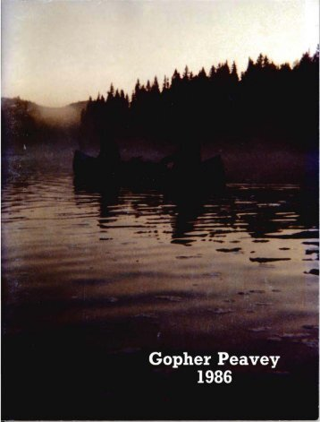 Gopher Peavey 1986 - Department of Forest Resources - University ...
