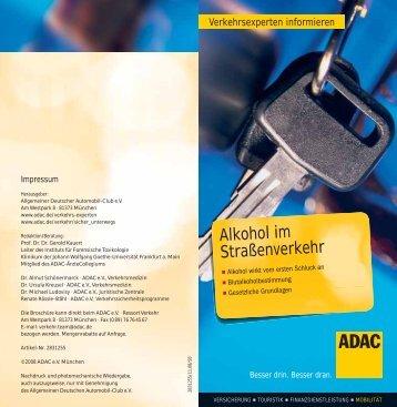 Alkohol im Straßenverkehr PDF, 132 KB - Adac