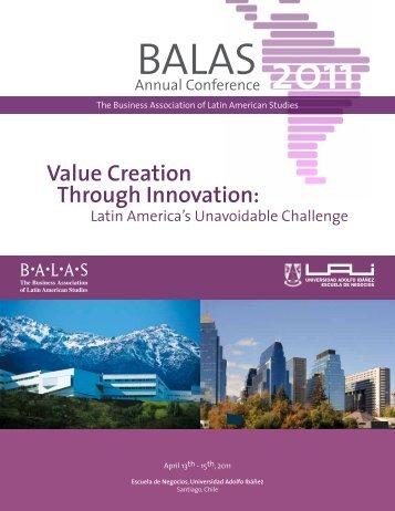 Value Creation Through Innovation: - Universidad Adolfo Ibáñez