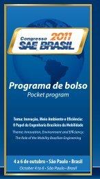 Programa de bolso - SAE Brasil