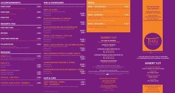MENU en PDF - Livraison de repas