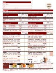 Menu à la carte (PDF) - Mito Sushi