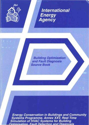 Building Optimization and Fault Diagnosis Source Book - ECBCS