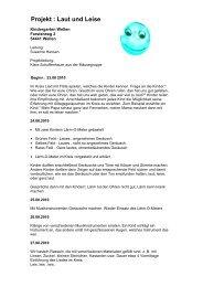 Projekt: Laut und Leise