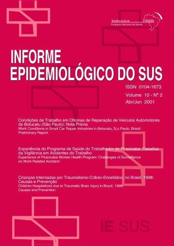 informe epidemiológico do sus informe epidemiológico do sus