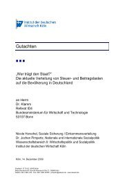 Gutachten - Institut der deutschen Wirtschaft Köln