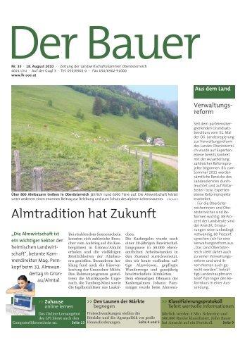 Der Bauer . 18. August 2010 - Landwirtschaftskammer Oberösterreich