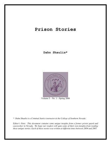 Prison Stories Dahn Shaulis - Center on Juvenile and Criminal Justice