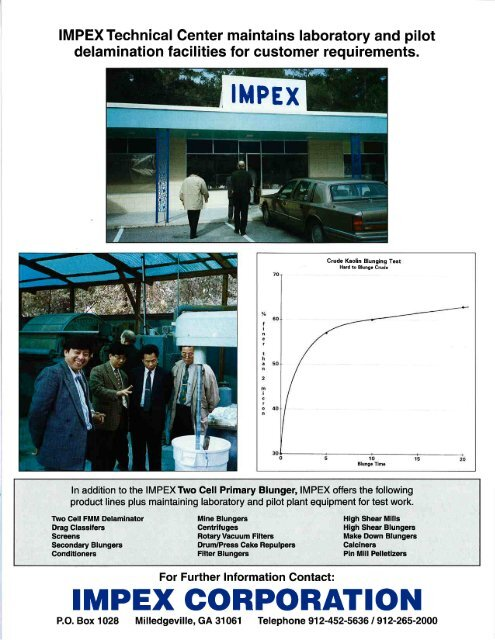 IMPEX Two Cell Primary Blunger Brochure [pdf]