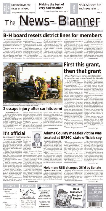 First this grant, then that grant - Bluffton News Banner