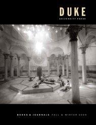 2009 Fall & Winter - Duke University Press