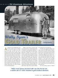 Wally Byam's Gold Trailer - Airstream Life magazine