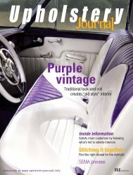 Upholstery Journal, August/September 2008, Digital Edition