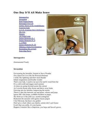 Jay z black album lyrics the hiphop archive one day itll all make sense lyrics the hiphop archive malvernweather Gallery