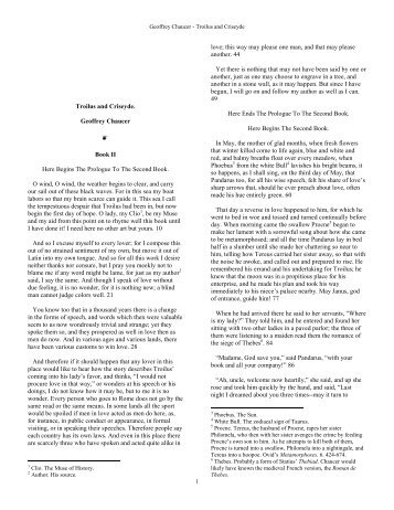 troilus and criseyde book 2