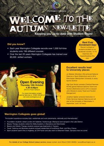 Autumn newsletter 2009 - Warrington Collegiate