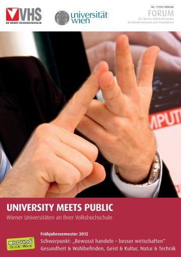 UNIVERSITY MEETS PUBLIC - Postgraduate Center