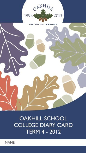 College T4 2012 - Oakhill School Knysna