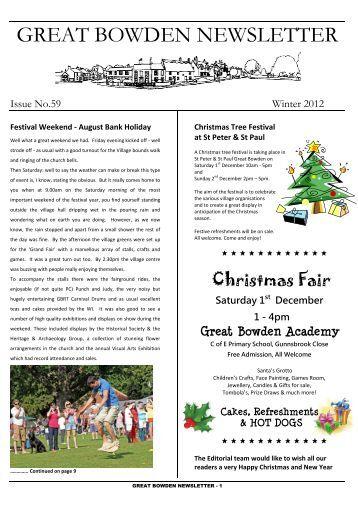 GREAT BOWDEN NEWSLETTER - Great Bowden Village Website
