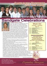 Newsletter - 25th October 2011 - Sandgate District State High School