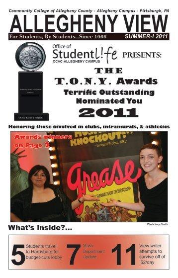 T.O.N.Y. Awards - Community College of Allegheny County