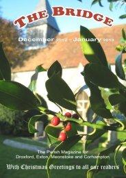 The Bridge for December 2012 & January 2013 - Bridge Parishes