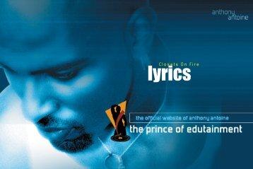 lyrics lyrics - Anthony Antoine