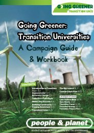 Going Greener campaign guide - People & Planet