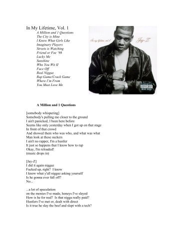 Jay z black album lyrics the hiphop archive jay z volume 1 lyrics the hiphop archive malvernweather Image collections
