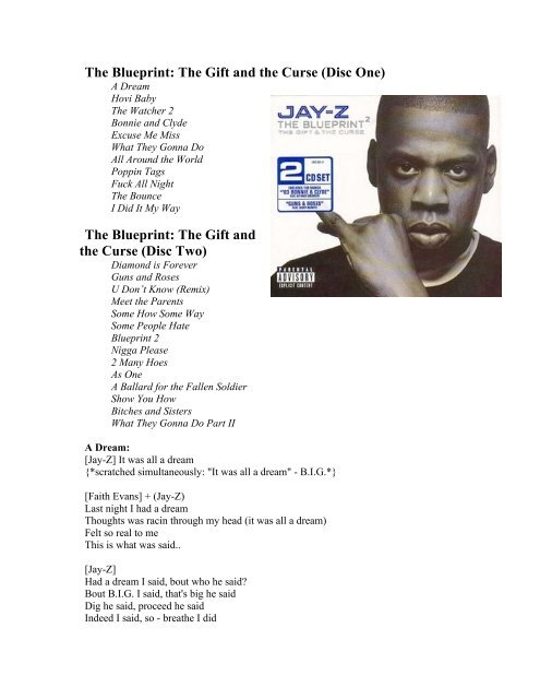 Jay Z Blueprint 2 Gift And Curse The Hiphop Archive