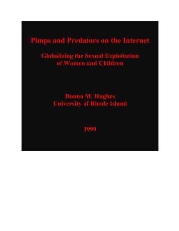 Pimps and Predators on the Internet - University of Rhode Island