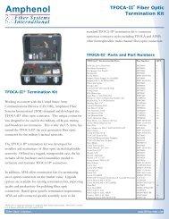 TFOCA-II Termination Kit.qxp - Acal Technology