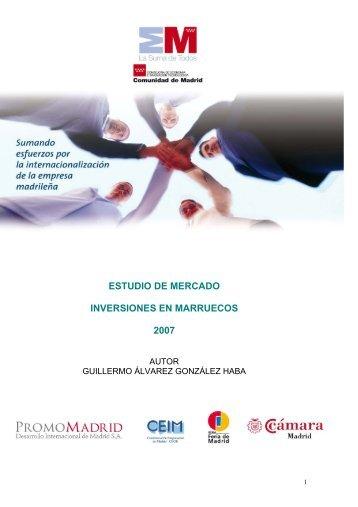 ESTUDIO DE MERCADO INVERSIONES EN ... - exportmadrid.com