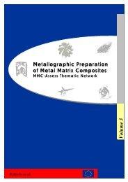 Metallographic Preparation of Metal Matrix Composites Volume 3