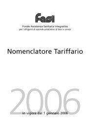 Nomenclatore Tariffario - Fasi