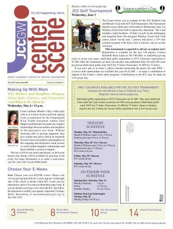 May 2009 - Jewish Community Center of Greater Washington