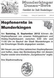 Nr. 36 / 2012 - Munderkingen