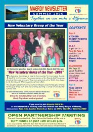 MAERDY NEWSLETTER - Maerdy Communities First